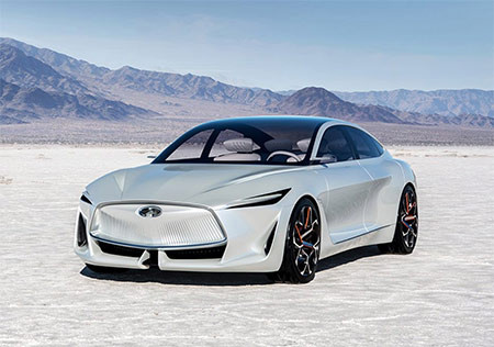 Infiniti concept car 2018 used in a blog post about concept car wrapping by Autowrap centre Liverpool
