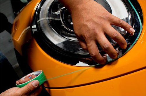 Image showing 3M knifeless tape in action from a blog post by Auto Wrap Centre Liverpool