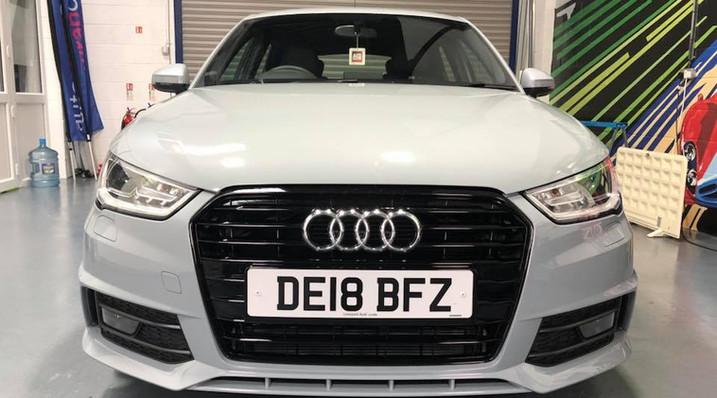 Audi A1 'after' de-chrome
