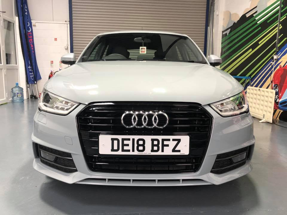 Audi A1 'after' de-chrome
