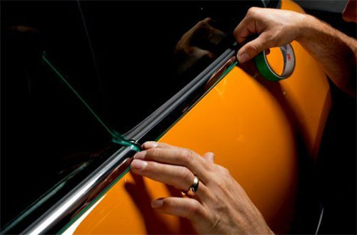 Image showing Auto Wrap Centre Liverpool using 3M knifeless tape in a blog post about how we look after your car when vinyl wrapping