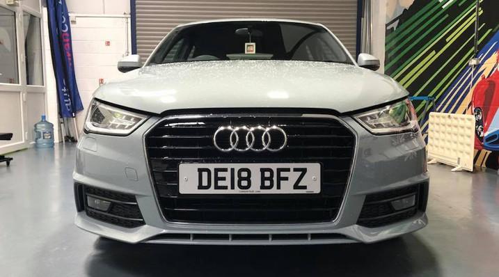 Audi A1 'before' de-chrome