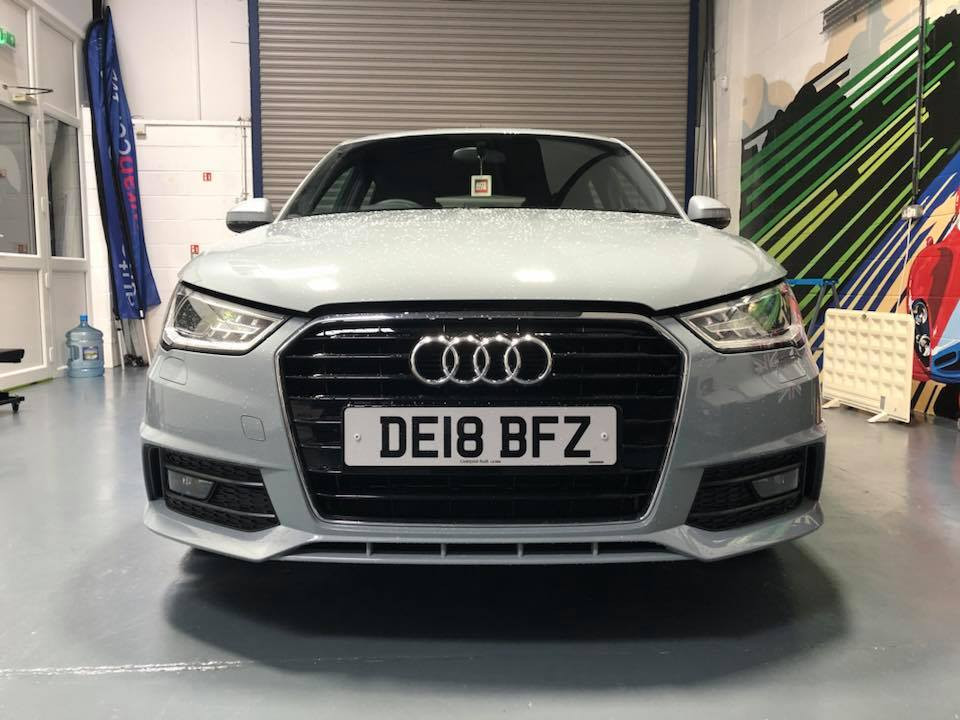Audi A1 'before' de-chrome