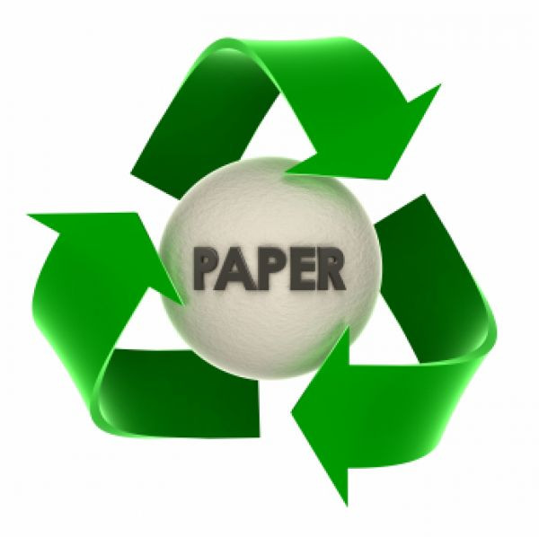 Recycled logo image used in a blog post about recycled media and carbon offsetting by EP Cowens