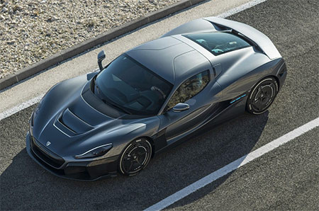 Image showing the Rimac C Two concept car used in a blog post about concept car wrapping by Auto Wrap Centre Liverpool