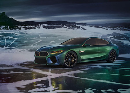 Image of BMW concept M8 Gran Coupe used in a blog post about concept car wrapping by Autowrap Centre Liverpool