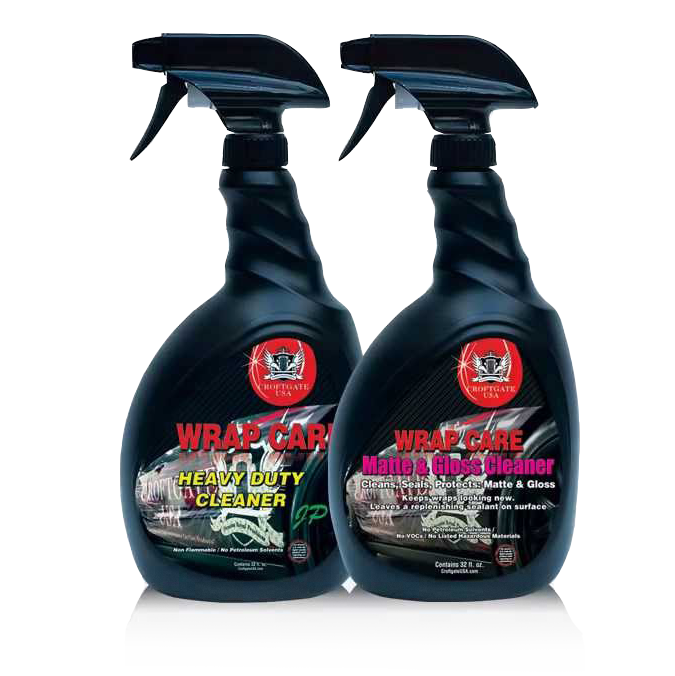 Image showing Croftgate cleaning products specifically made for cleaning vinyl wrapped cars and available from Auto Wrap Centre Liverpool