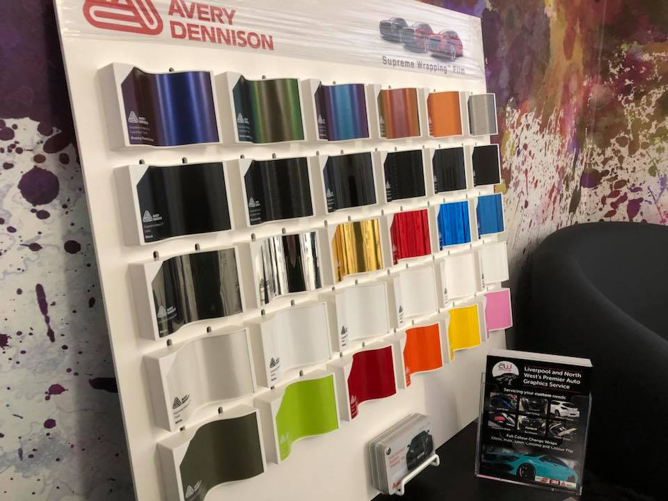 New swatch board by Avery Dennison