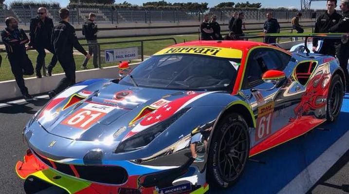Chrome wrap on race car