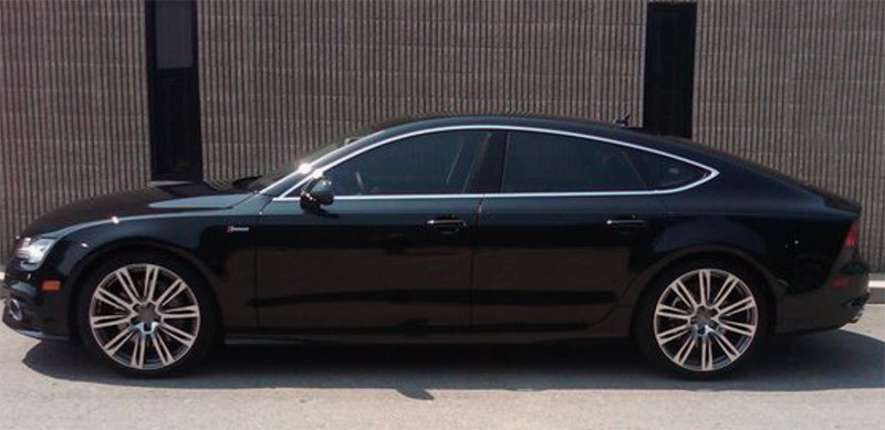 Image showing an Audi with car window tint applied from a blog post by Auto Wrap Centre Liverpool