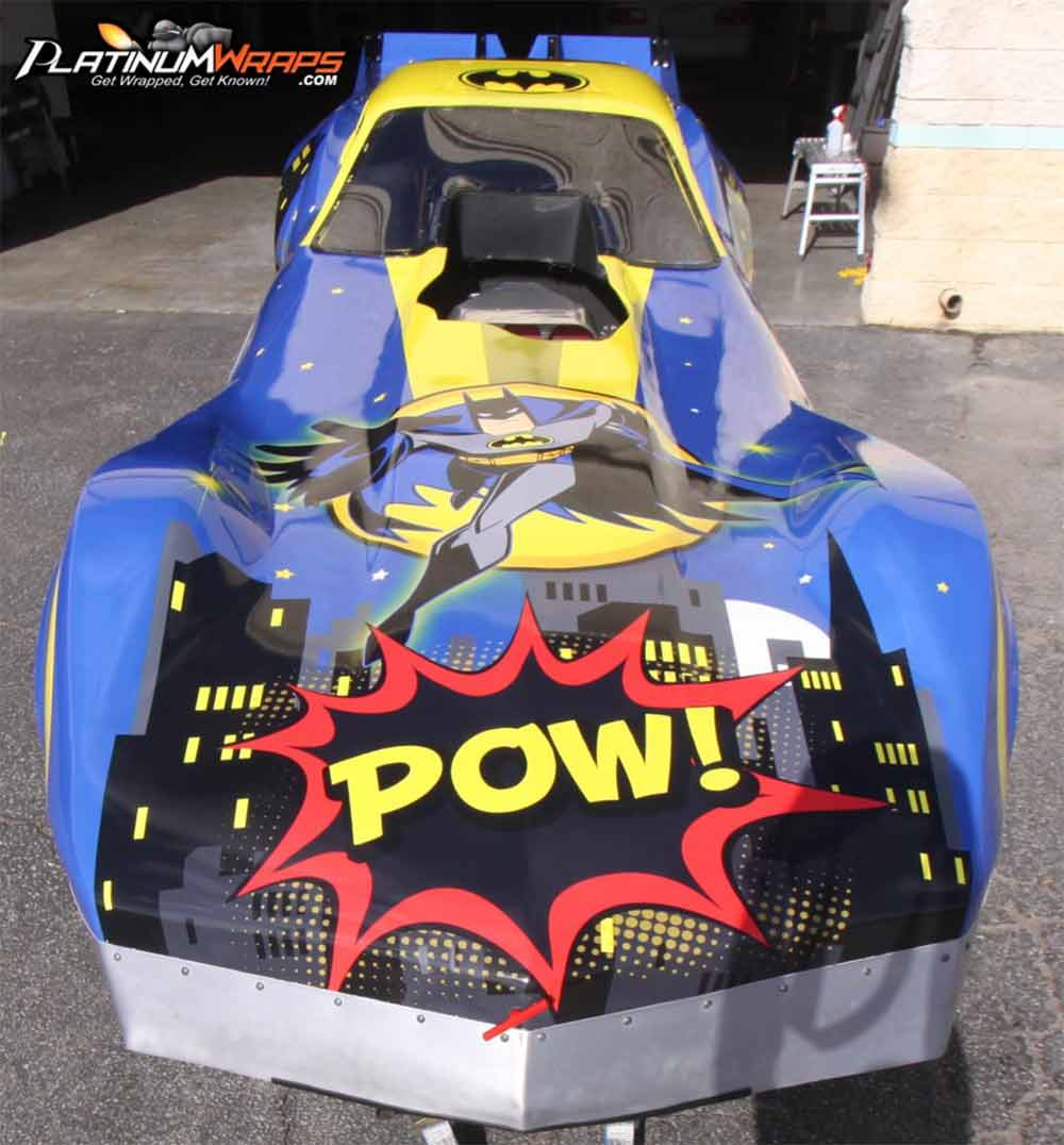 Image showing a Batman superhero custom vinyl wrap used in a blog post by Autowrap Centre Liverpool