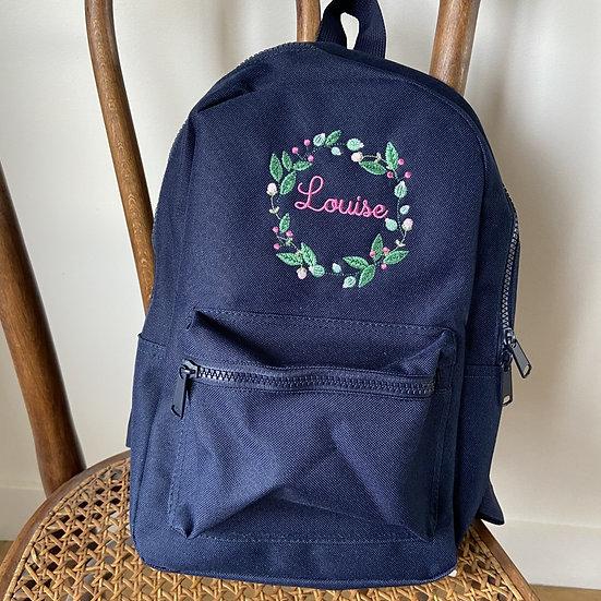 """Le  sac à dos brodé """"comme les grands"""""""