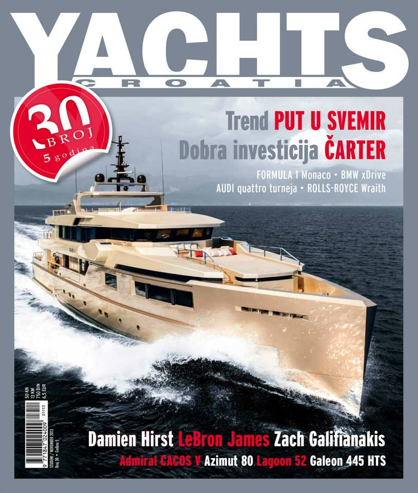 cover magazine, yachts croatia