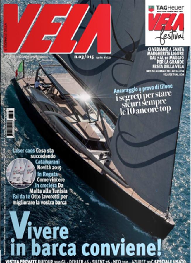 cover magazine, vela