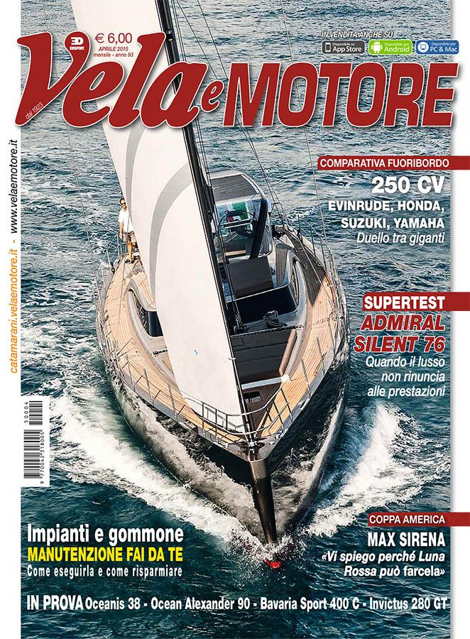 cover magazine, vela e motore