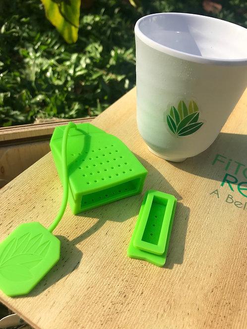 Copo para chá e infusor de silicone