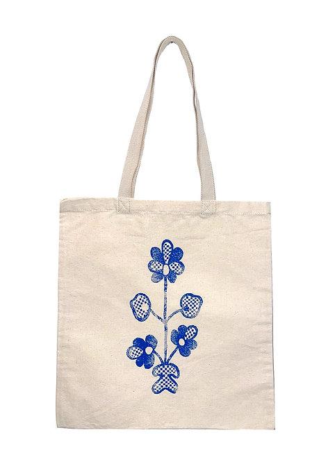 Шопер з блакитною квіткою
