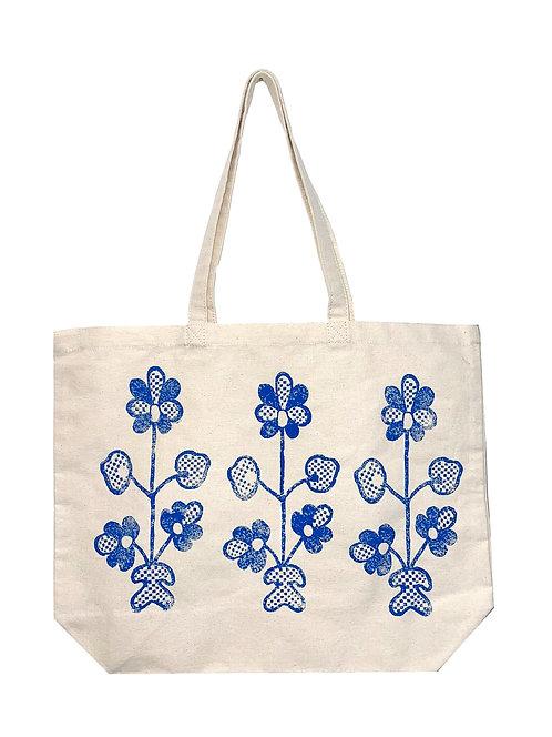 Шопер з блакитними квітками