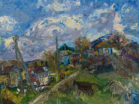 В ясний день. Селище Чорноріччя. Байдарська долина 2012