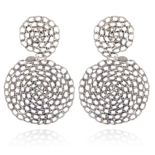 Boucles d'oreilles Onde Gourmette argent GAS bijoux