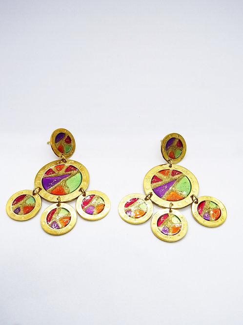 Boucles d'oreilles Illusion double or GAS bioux