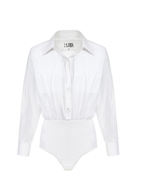 Body Coton Blanc MM6 Maison Margiela