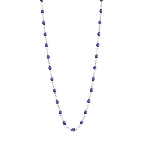 Collier bleuet Classique Gigi Clozeau or blanc 42 cm