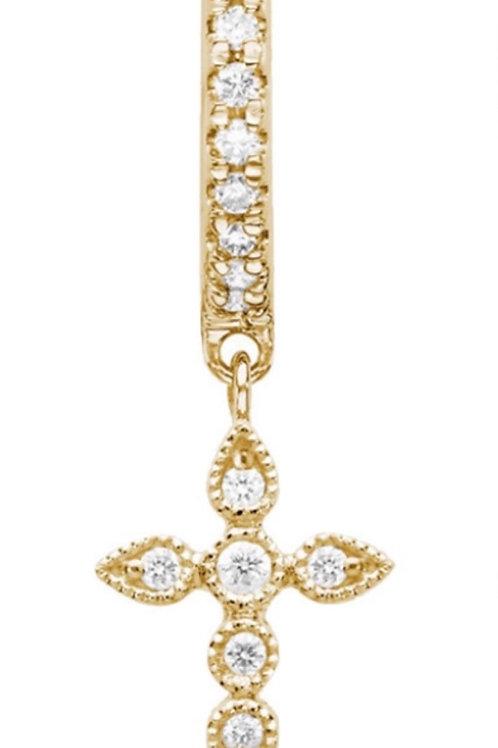 Mini Créorle Céleste Or Jaune et Diamants STONE PARIS