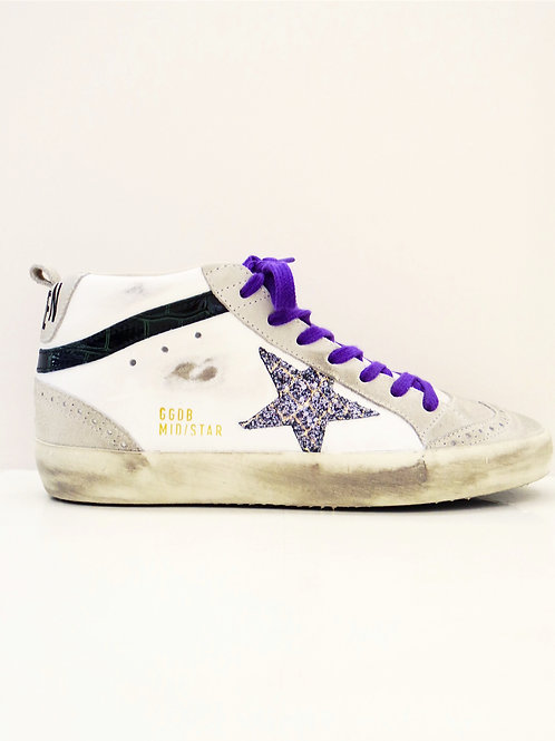 Golden Goose  Sneakers Mid Star étoiles paillettes violettes