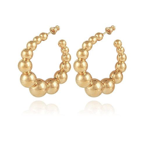 Boucles d'oreilles créole Andy PM Gas bijoux