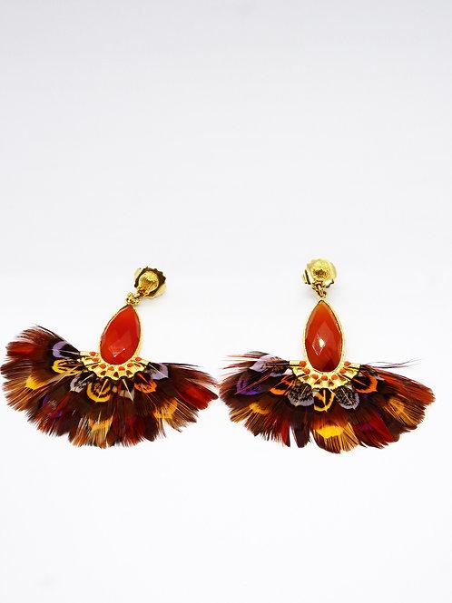 Boucles d'oreilles Serti Paon or GAS bijoux