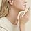 Thumbnail: Boucles d'oreilles créoles Ariane cabochons mini or GAS bijoux
