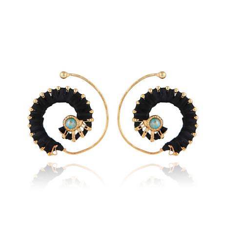 Boucles d'oreilles raphia or GAS bijoux