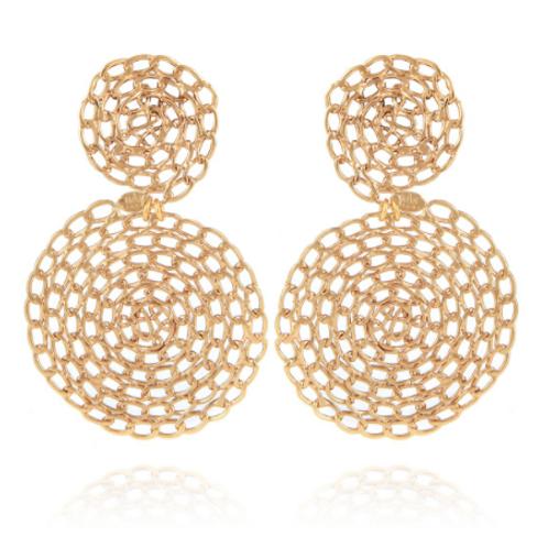 Boucles d'oreilles Onde Gourmette or GAS bijoux