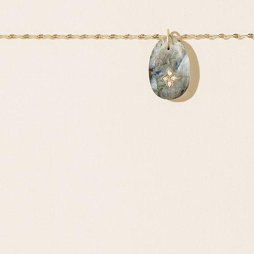 Gaia N.1 Labradorite necklace Pascale Monvoisin