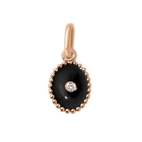 Pendentif Etoile du Nord résine noir Gigi Clozeau diamant or rose