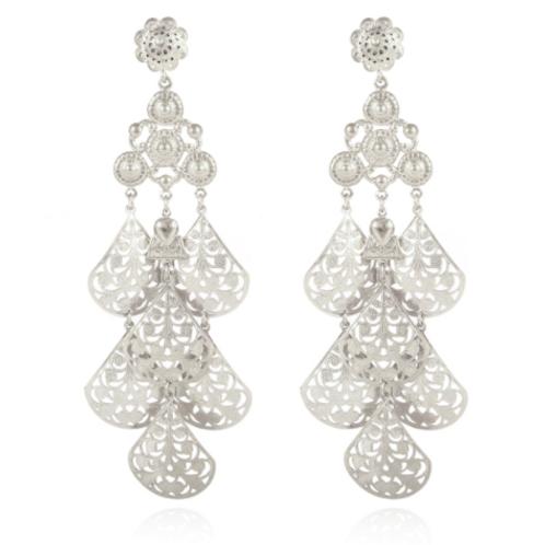 Boucles d'oreilles Orferia grand modèle argent GAS bijoux
