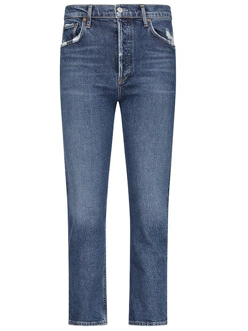 Jean slim taille haute Riley Air Blue AGOLDE