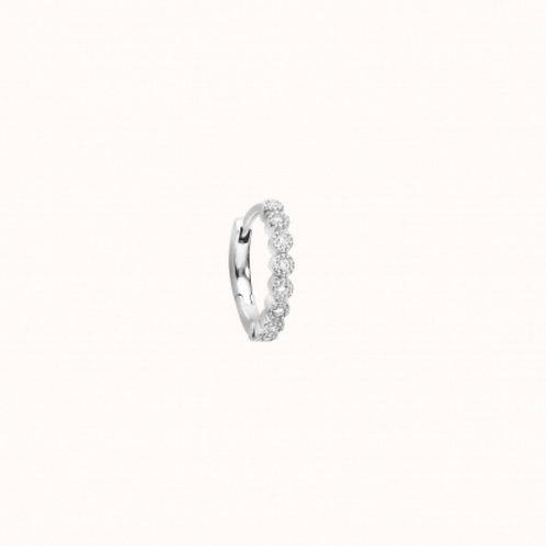 Mini Créole Madame Bovary Or Blanc et diamants STONE PARIS