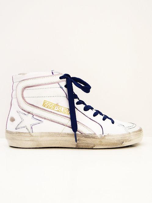 Golden Goose  Sneakers Slide surpiqûres roses