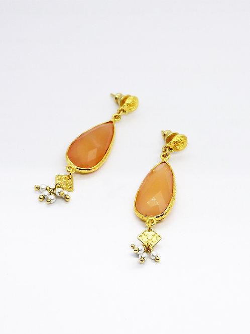 Boucles d'oreilles Serti Goutte or GAS bijoux