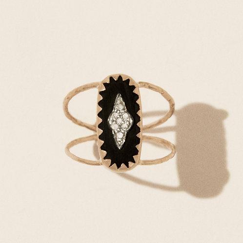 Mahe Black ring Pascale Monvoisin