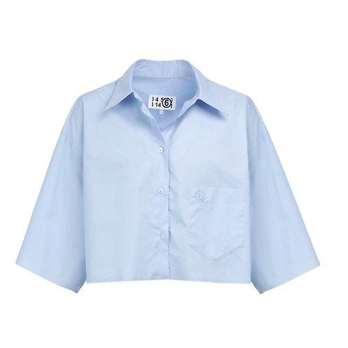 Chemise Coton Nude Bleu Ciel MM6 Maison Margiela