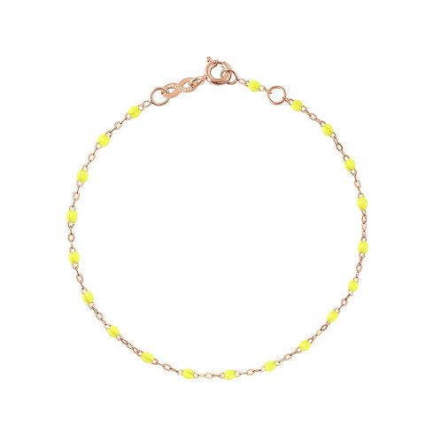 Bracelet jaune fluo Classique Gigi Clozeau or rose 17 cm