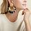 Thumbnail: Boucles d'oreilles Luna Wave raphia or GAS bijoux