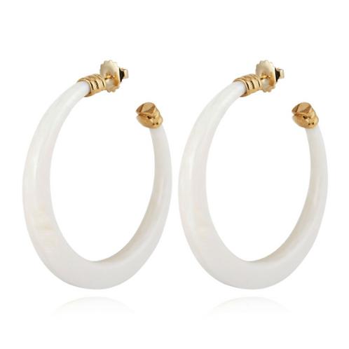 Boucles d'oreilles créoles Caftan Oval acétate or GAS bijoux