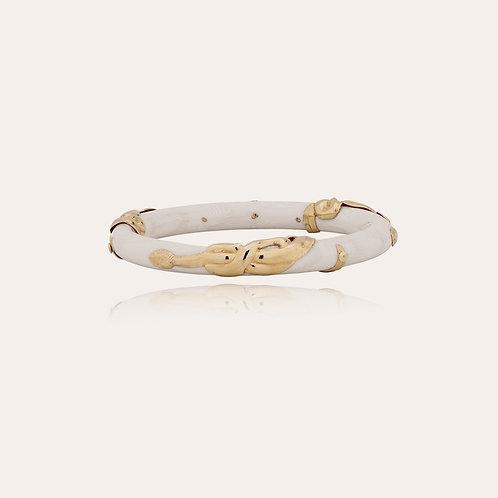 Bracelet Cobra jonc acétate or - Malachite GAS BIJOUX