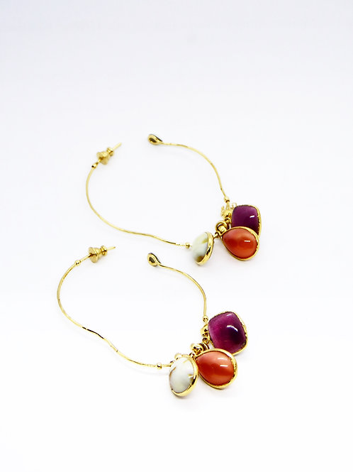 Boucles d'oreilles créoles Honoré or GAS bijoux