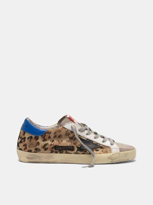 Golden Goose Sneakers Super-Star poulain imprimé léopard