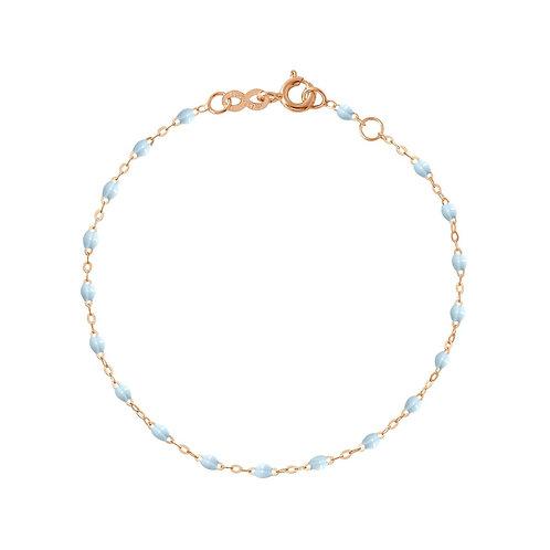 Bracelet bleu layette Classique Gigi Clozeau or rose 17 cm